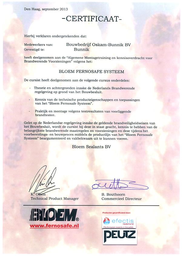 Fernosafe certificaat afbeelding